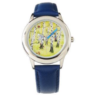 皮及びシーク 腕時計