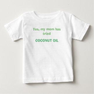 皮問題のためのココナッツ油のワイシャツ ベビーTシャツ