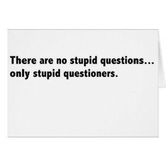 皮肉な愚かな質問カード カード