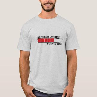 皮肉のローディングのTシャツのおもしろいなユーモアコンピュータ Tシャツ