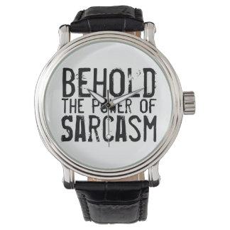 皮肉の力を見て下さい 腕時計