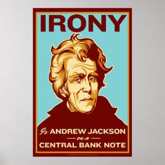 皮肉は中央銀行券ポスターのジャクソンです ポスター