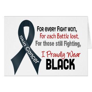 皮膚癌私は得意気に黒1を身に着けています カード