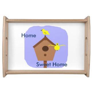 皿の家の甘い家の鳥の巣箱 トレー