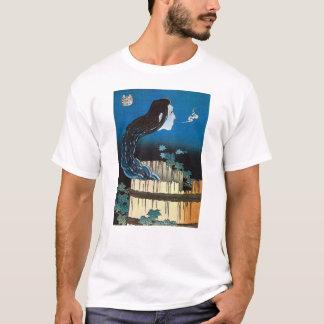 皿の幽霊、皿の北斎の幽霊、Hokusaiの浮世絵 Tシャツ
