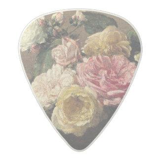 皿1882年のバラ アセタール ギターピック