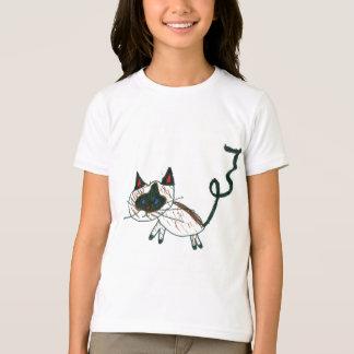 盆栽のシャム猫 Tシャツ