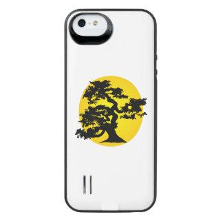 盆栽のシルエット日曜日 iPhone SE/5/5sバッテリーケース