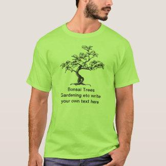盆栽の庭の木のTシャツ Tシャツ