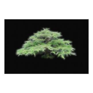 盆栽の木の緑植物 便箋