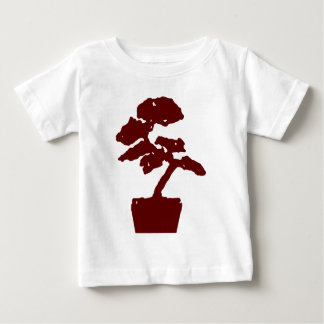 盆栽の木の赤 ベビーTシャツ
