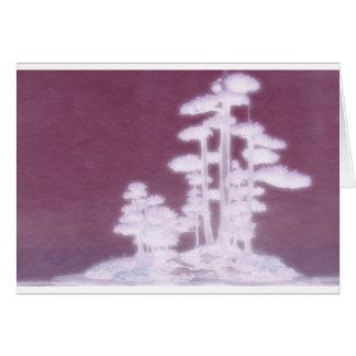 盆栽の松の木のグループ グリーティングカード