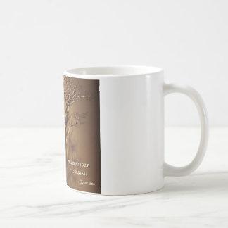 盆栽及び孔子の親切さの引用文 コーヒーマグカップ
