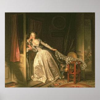 盗まれたキス、c.1788 ポスター