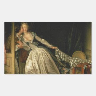 盗まれたキス- Fragonard 長方形シール