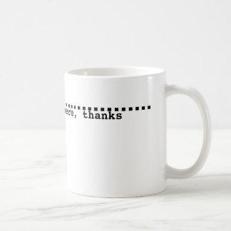 盛り土ラインが付いているマグ コーヒーマグカップ