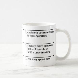 盛り土ラインと襲います今話すことができます コーヒーマグカップ