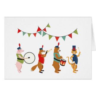 盛儀盛宴動物パレード グリーティングカード