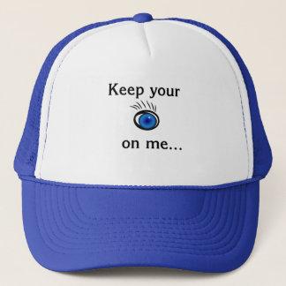 監視して下さい私をあなたの….白く、ロイヤルブルーの帽子 キャップ