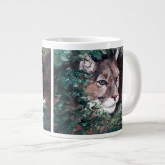 監視クーガーのジャンボマグ ジャンボコーヒーマグカップ