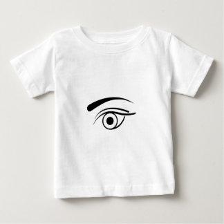 目および眉毛 ベビーTシャツ
