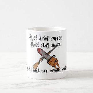 目がさめているマグをとどまらなければなりません コーヒーマグカップ