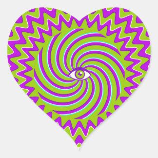 目が付いている催眠性のレトロポスターを着色して下さい ハートシール