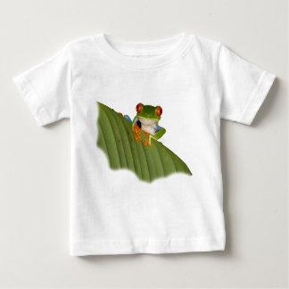 目が赤いGaudíのカエルのベビーのTシャツ ベビーTシャツ