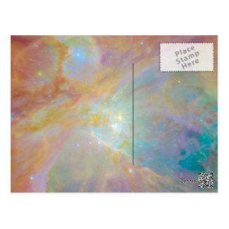 目に見える、紫外線および赤外線のオリオンの星雲 ポストカード