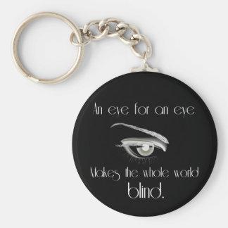 目のための目は全世界のブラインドを作ります キーホルダー