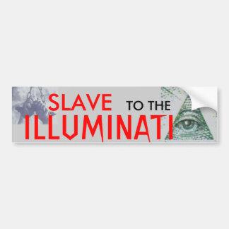 目のステッカーを見ているIlluminatiへの奴隷 バンパーステッカー