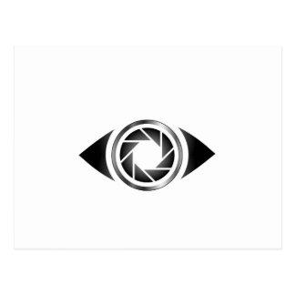 目の写真撮影シャッター ポストカード