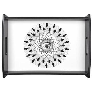 目の曼荼羅のトレイ トレー