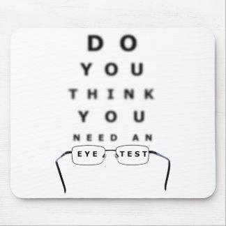目の試験標板のマウスパッド マウスパッド
