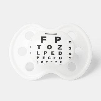 目の試験標板 おしゃぶり
