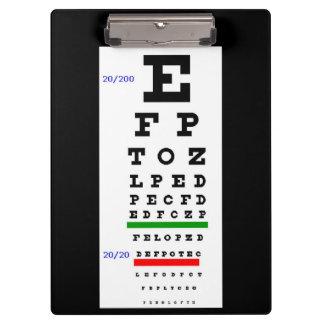 目の試験標板 クリップボード