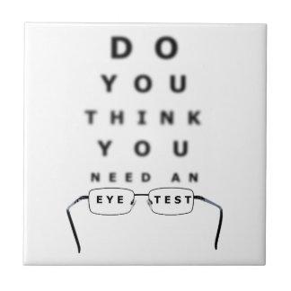 目の試験標板 タイル