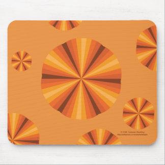 目の錯覚のオレンジのマウスパッド マウスパッド