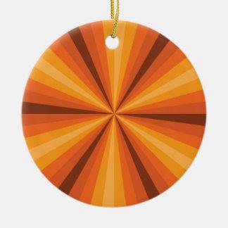 目の錯覚のオレンジオーナメント セラミックオーナメント