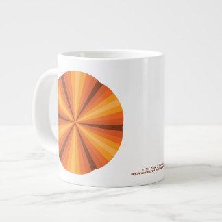 目の錯覚のオレンジ専門のマグ ジャンボコーヒーマグカップ