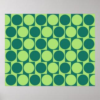 目の錯覚のカフェのウォール効果は緑を一周します ポスター