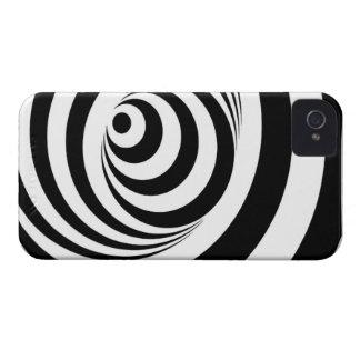 目の錯覚のブラックベリーのはっきりしたな箱 Case-Mate iPhone 4 ケース