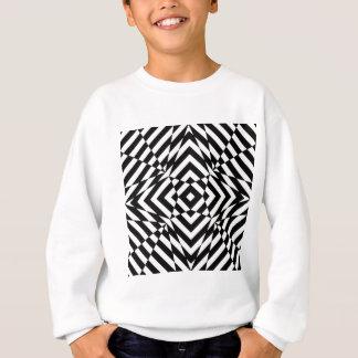 目の錯覚の写実的な白黒プリント スウェットシャツ