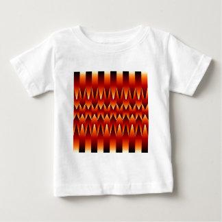 目の錯覚の抽象芸術の背景 ベビーTシャツ