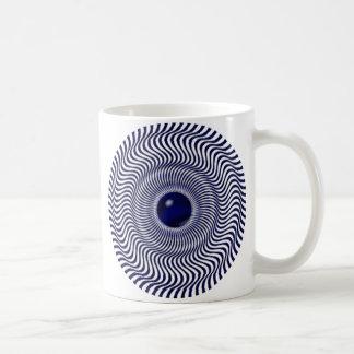 目の錯覚の移動イメージ コーヒーマグカップ