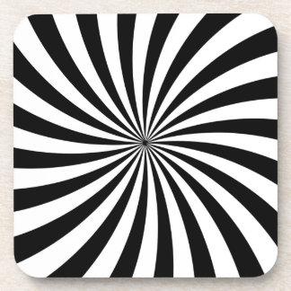 目の錯覚の移動白黒渦巻 コースター