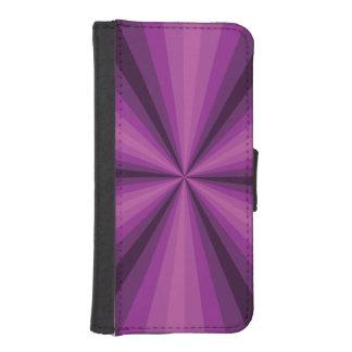 目の錯覚の紫色のSmartphoneのウォレットケース iPhoneSE/5/5sウォレットケース