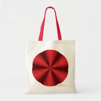 目の錯覚の赤灯のトートバック トートバッグ