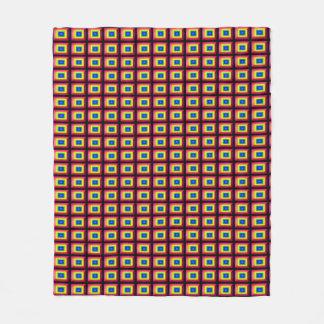 目の錯覚の長方形の形のミニマリズム フリースブランケット