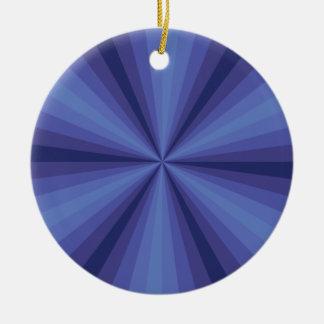 目の錯覚の青いオーナメント セラミックオーナメント